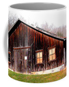 Old Brown Barn Along Golden Road Coffee Mug