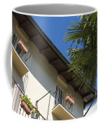 Old Building And Palm Trees Coffee Mug