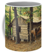 Log Cabin - Back View - At Big Creek Coffee Mug
