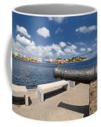 Old Cannon And Queen Juliana Bridge Curacao Coffee Mug