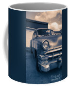 Old Car In Front Of Garage Coffee Mug