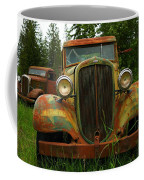Old Cars Left To Decorate The Weeds Coffee Mug