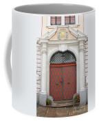 Old Carved Red  Door Coffee Mug