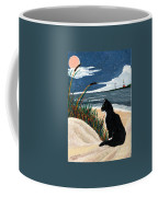 Old Cat And The Sea Coffee Mug by Edward Fuller