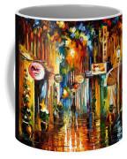 Old City Street - Palette Knife Oil Painting On Canvas By Leonid Afremov Coffee Mug
