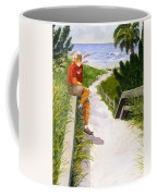 Old Codger On Beach Coffee Mug