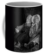 Old Couple Mannequins In Shop Window Display Coffee Mug