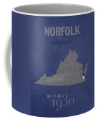 Old Dominion University Monarchs Norfolk Virginia College Town State Map Poster Series No 085 Coffee Mug