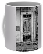 Old Door - Bw Coffee Mug