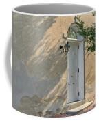 Old Door And Stucco Wall Coffee Mug