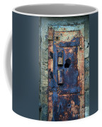 Old Door At Abandoned Prison Coffee Mug