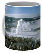 3m09132-01-old Faithful Geyser In Winter Coffee Mug