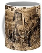 Old Farm Tractor In Sepia 1 Coffee Mug
