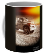 Old Farm Truck With Explosion At Night Coffee Mug