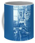 Old Fashioned Kitchen In Blue Coffee Mug