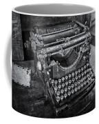 Old Fashioned Underwood Typewriter Bw Coffee Mug