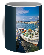 Old Fishing Wooden Boat With Nets Coffee Mug