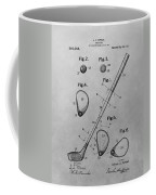 Old Golf Club Patent Illustration Coffee Mug