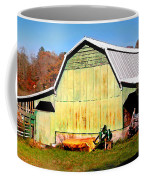 Old Green Barn South Of Rosman Coffee Mug