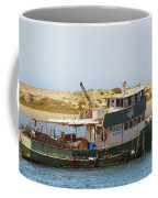 Old Green Scow Morro Bay Harbor Coffee Mug
