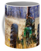 Old Green Tractor On The Farm Coffee Mug