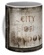 Old Grunge Stone Board With City Of London Text Coffee Mug