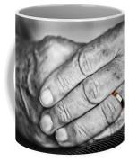 Old Hands With Wedding Band Coffee Mug