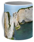 Old Harry Rocks On The Jurassic Coast In Dorset Coffee Mug