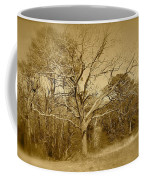 Old Haunted Tree In Sepia Coffee Mug