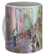 Old Havana Street Life - Sale - Large Scenic Cityscape Painting Coffee Mug