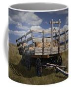 Old Hay Wagon In The Prairie Grass Coffee Mug
