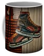 Old Hockey Skates Coffee Mug by Paul Ward