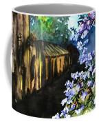 Old House And New Flowers Coffee Mug