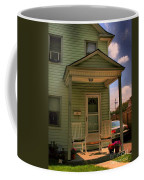 Old Houses - New Jersey - In The Oranges - Green House With Flower Pots And Rocking Chairs - Color Coffee Mug