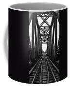 Old Huron River Rxr Bridge Black And White  Coffee Mug