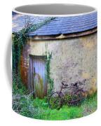 Old Irish Cottage With Bike By The Door Coffee Mug
