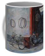 Old Man And His Bike Coffee Mug