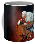 Old Man Reading Coffee Mug