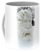 Old Man Winter Snow Sculpture Coffee Mug