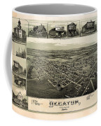 Old Map Of Decatur Texas 1890 Coffee Mug