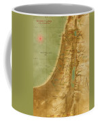 Old Map Of The Holy Land Coffee Mug