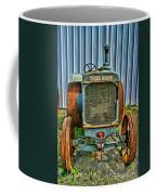 Old Metal Wheeled Tractor Hdr Coffee Mug
