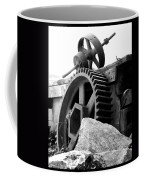 Old Mill Of Guilford Gears Black And White Coffee Mug