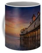 Old Orchard Beach Pier Sunset Coffee Mug by Susan Candelario