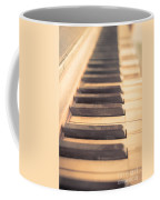 Old Piano Keys Coffee Mug