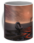 Old Pier And Sculptures Coffee Mug