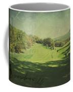 Old Postcard Of Golf Buddies At The Homestead Coffee Mug