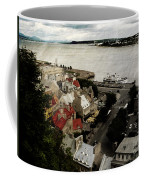Old Quebec City By St.lawrence Coffee Mug