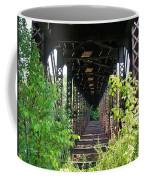 Old Railroad Car Bridge Coffee Mug