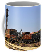 Old Railroad Cars From The Series View Of An Old Railroad Coffee Mug
